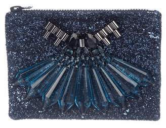Mawi Jeweled Glitter Clutch