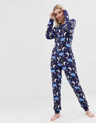 Asos Design DESIGN lounge astrology button onesie