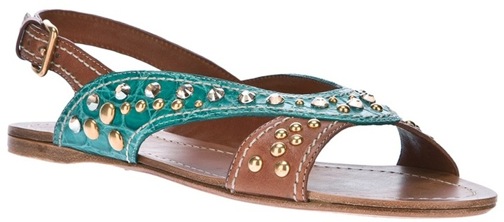 Car Shoe embellished sandal
