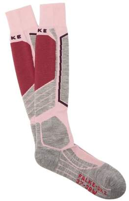 Falke Sk2 Knee High Cushioned Ski Socks - Womens - Pink Multi