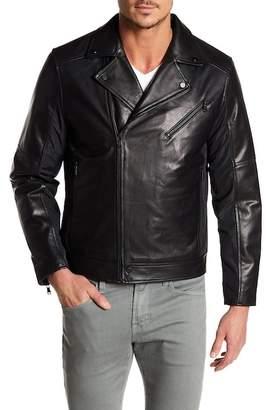 Moto Campaign Black Mixed Media Leather Jacket