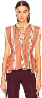 Etoile Isabel Marant Drappy Summer Stripes Blouse