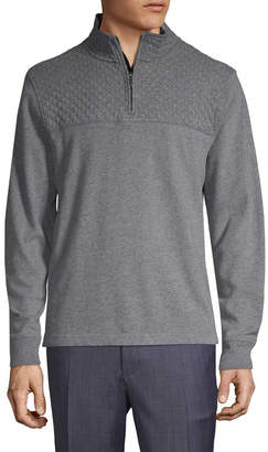 Brooks Brothers Quilted Yoke Sweater