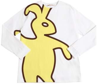 Marni Junior Rabbit Print Cotton Jersey T-Shirt