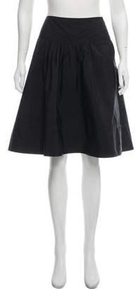 Diane von Furstenberg Linen Midi Skirt
