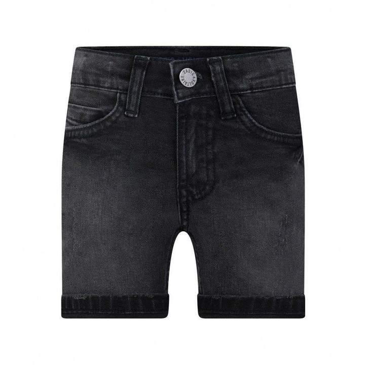 Zadig & VoltaireBoys Black Denim Skull Shorts