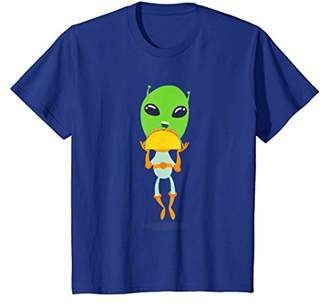 Alien Eating a Taco Shirt - Funny Outer Space Alien T-Shirt
