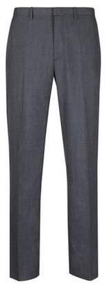 Burton Mens Big & Tall Navy Regular Fit Stretch Checked Trousers