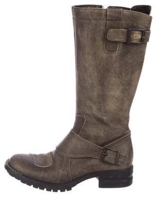 Cordani Leather Mid-Calf Boots