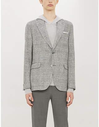 OSCAR JACOBSON Egel checked wool-blend blazer