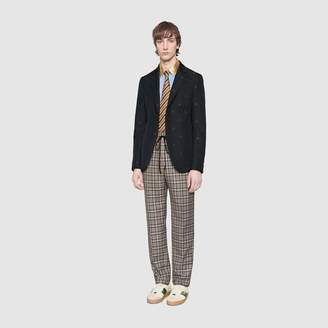Gucci Check wool pant