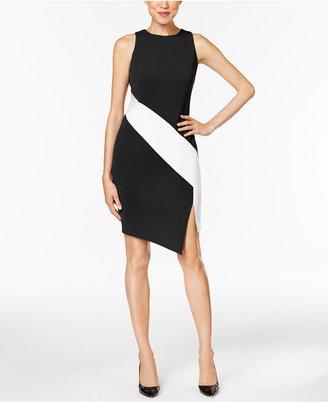 ECI Crepe Colorblocked Sheath Dress $70 thestylecure.com