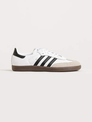 adidas Unisex Samba OG FWR Sneakers in White Brown Leather