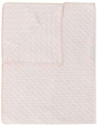 Fendi logo embroidered blanket
