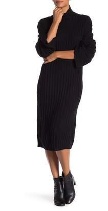 Free Press Ribbed Midi Turtleneck Sweater Dress