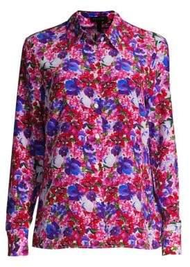 Escada Nicoli Silk Floral Blouse