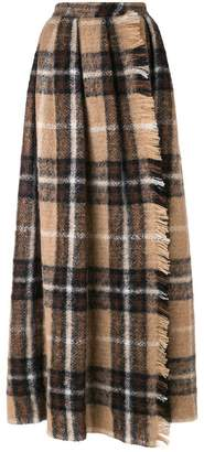 Max Mara plaid-print maxi skirt