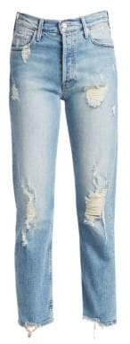 Mother The Super Tom Cat Distressed Boyfriend Jeans