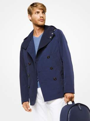 Michael Kors Nylon Hooded Peacoat