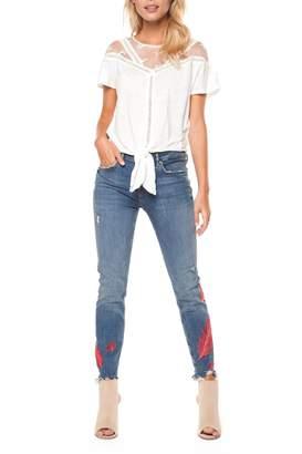 Dex Lace Tie Blouse