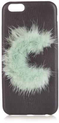 Fendi C mink-fur and leather iPhone® 6 case
