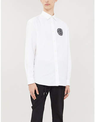 McQ Graphic-print regular-fit cotton shirt