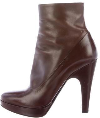 pradaPrada Leather Ankle Boots