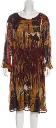 Gucci Embellished Silk Dress