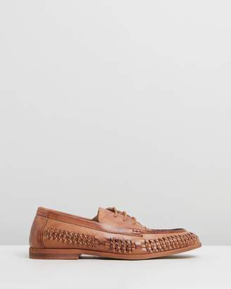 Morata Woven Leather Lace-Up Moccasins