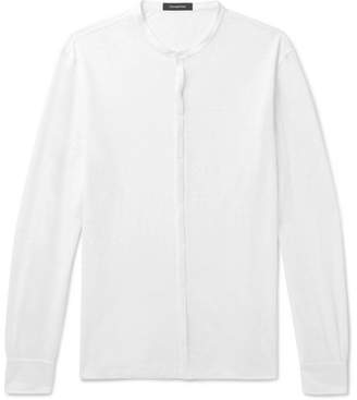 Ermenegildo Zegna Grandad-Collar Linen Shirt
