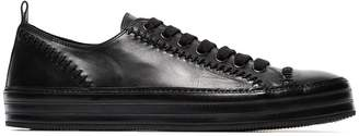 Ann Demeulemeester Leather Stitch Detail Sneakers