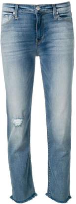 Hudson cropped distressed jeans