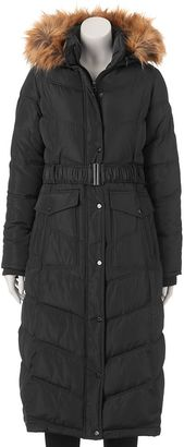 Juniors' Madden Girl Faux-Fur Hooded Maxi Puffer Jacket $120 thestylecure.com