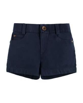 Carrera Pili Cotton-Stretch Shorts, Blue, Size 12M-3Y