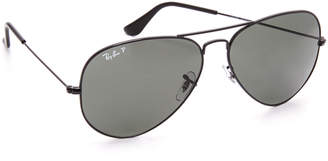 Ray-Ban Oversized Polarized Aviator Sunglasses $200 thestylecure.com