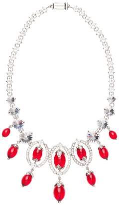 Miu Miu coloured beads crystal necklace