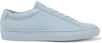 Common Projects - Original Achilles Leather Sneakers - Light blue $410 thestylecure.com