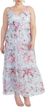 Rachel Roy Cutout Floral Maxi Dress