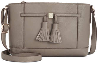 Giani Bernini Pebble Leather Tassel Crossbody