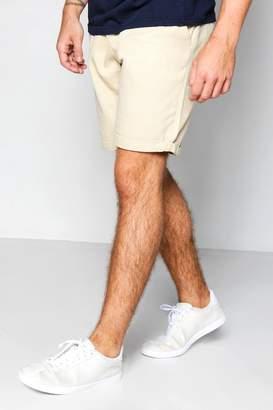 boohoo Stone Plain Chino Shorts