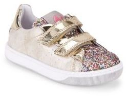 Naturino Toddler's & Kid's Leon VL Glitter Leather Tennis Sneakers $83 thestylecure.com