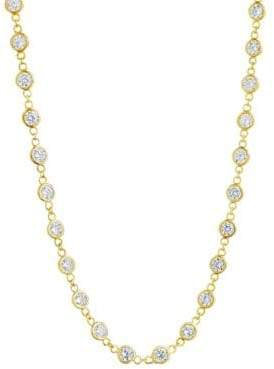 CZ by the Yard Sterling Silver & Crystal Long Wrap Necklace