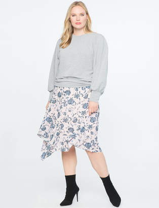 Asymmetrical Midi Skirt