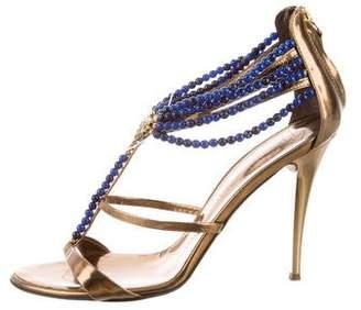 587862985a0b62 Giuseppe Zanotti Blue Leather Women s Sandals - ShopStyle