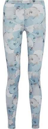Live The Process Floral-Print Stretch-Supplex Leggings