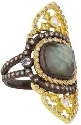 Armenta Old World Diamond, Sapphire & Quartz Triplet Cocktail Ring