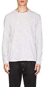 Barena Venezia Men's Thin-Striped Cotton Long-Sleeve T-Shirt-White