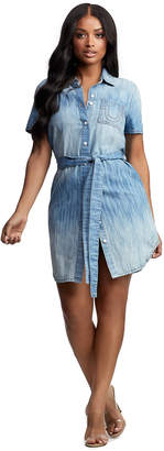 True Religion IKAT DENIM SHIRT DRESS