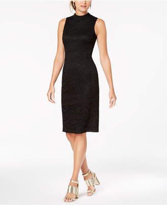 Nine West Lace Mock-Neck Sheath Dress