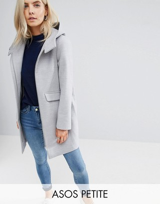 ASOS Petite ASOS PETITE Hooded Slim Coat with Zip Front $95 thestylecure.com